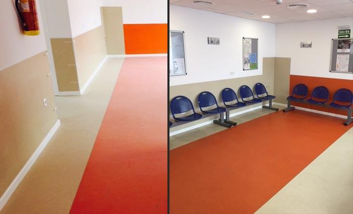 Instalacion de suelo acustico - Suelo centro medico - Acoustyl